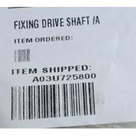 KONICA MINOLTA FIXING DRIVE SHAFT /A A03U725800 NEW!