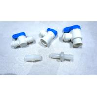VARIETY LOT OF 66* PLASTIC VALVES 1/4 3/8 TUBE NSF-51