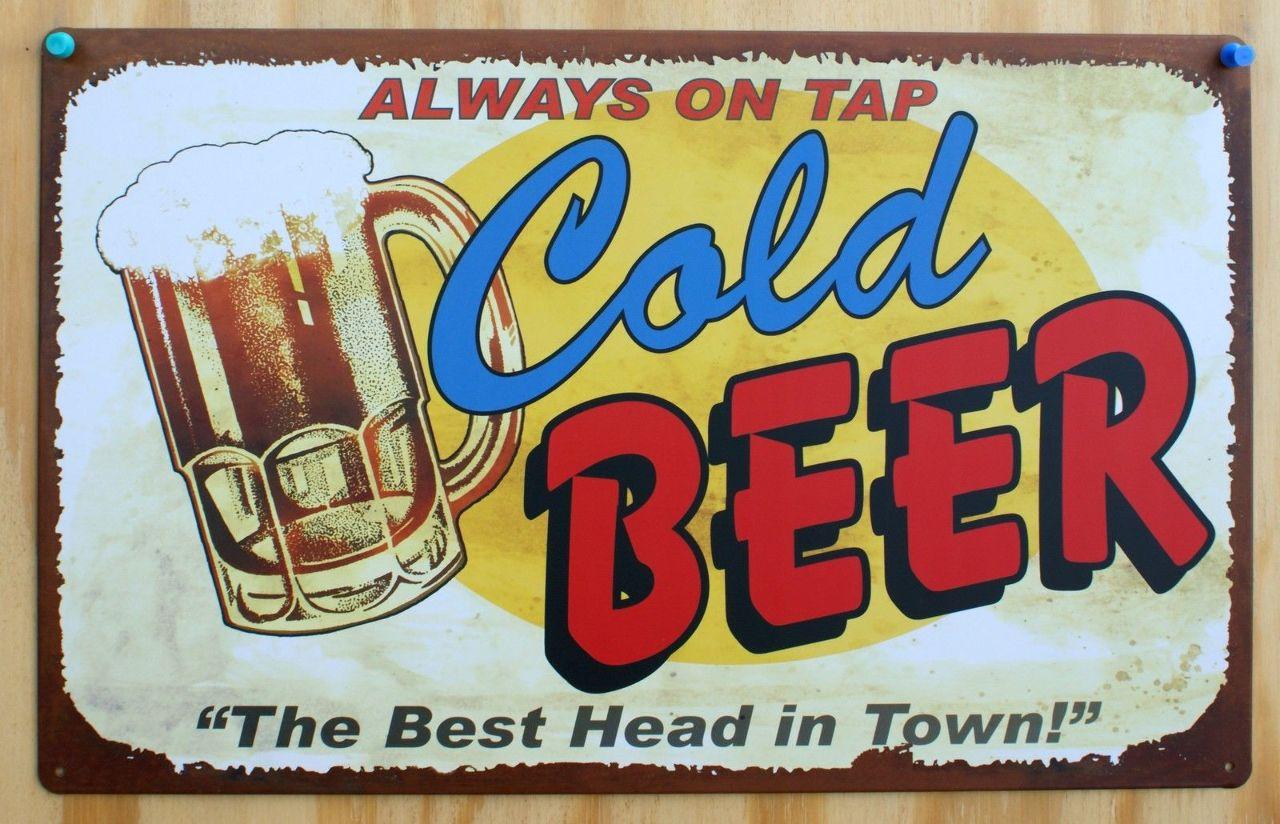"Metal Street Sign Bud Man Beer Garage Man Cave Bar Decor 3/""x18/"" RED"