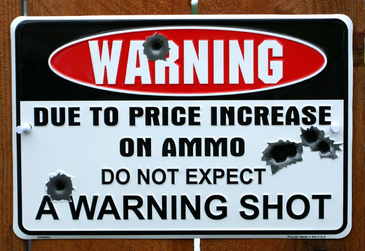 Warning Do Not Expect A Warning Shot Tin Sign Security System 2nd Amendment