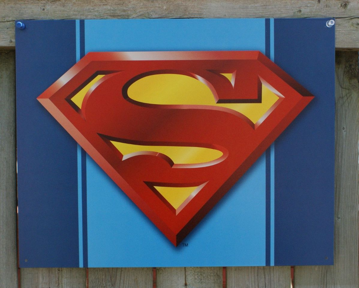 Superman Super Hero Tin Metal Sign Comic Clark Kent