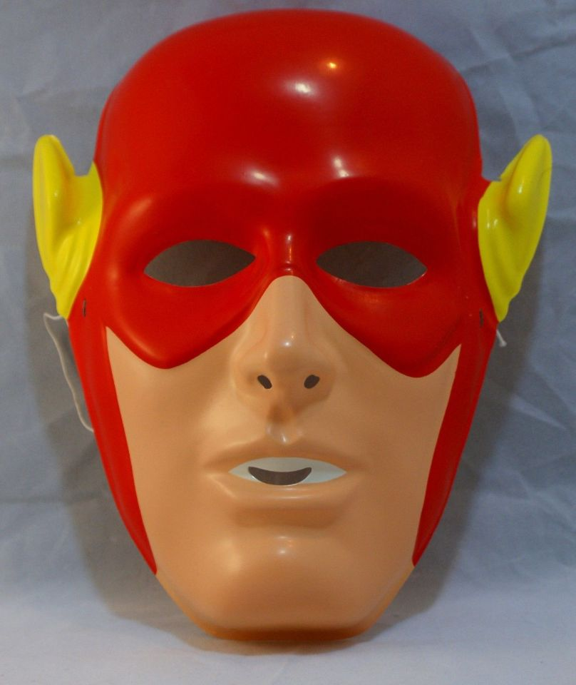 Vintage The Flash Halloween Mask DC Comics Rubies Costume Co Justice League Y033  sc 1 st  eBay & Vintage The Flash Halloween Mask DC Comics Rubies Costume Co Justice ...