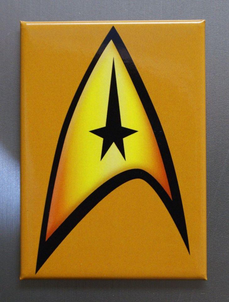 Star Trek Communicator Badge Logo Refrigerator FRIDGE MAGNET Spock TV Movie D27