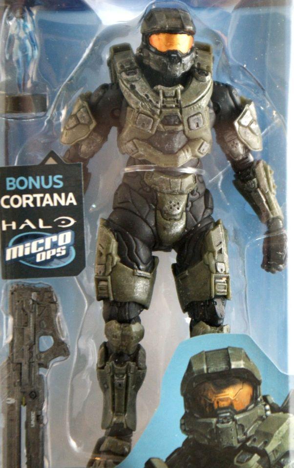 Halo 4 Master Chief W/ Cortana Micro ops Action Figure McFarlane Toys Xbox  360