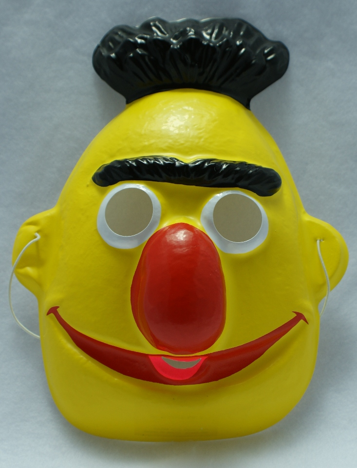 Vintage Sesame Street Jim Henson Bert & Ernie Bert Halloween Mask 1979 Y043