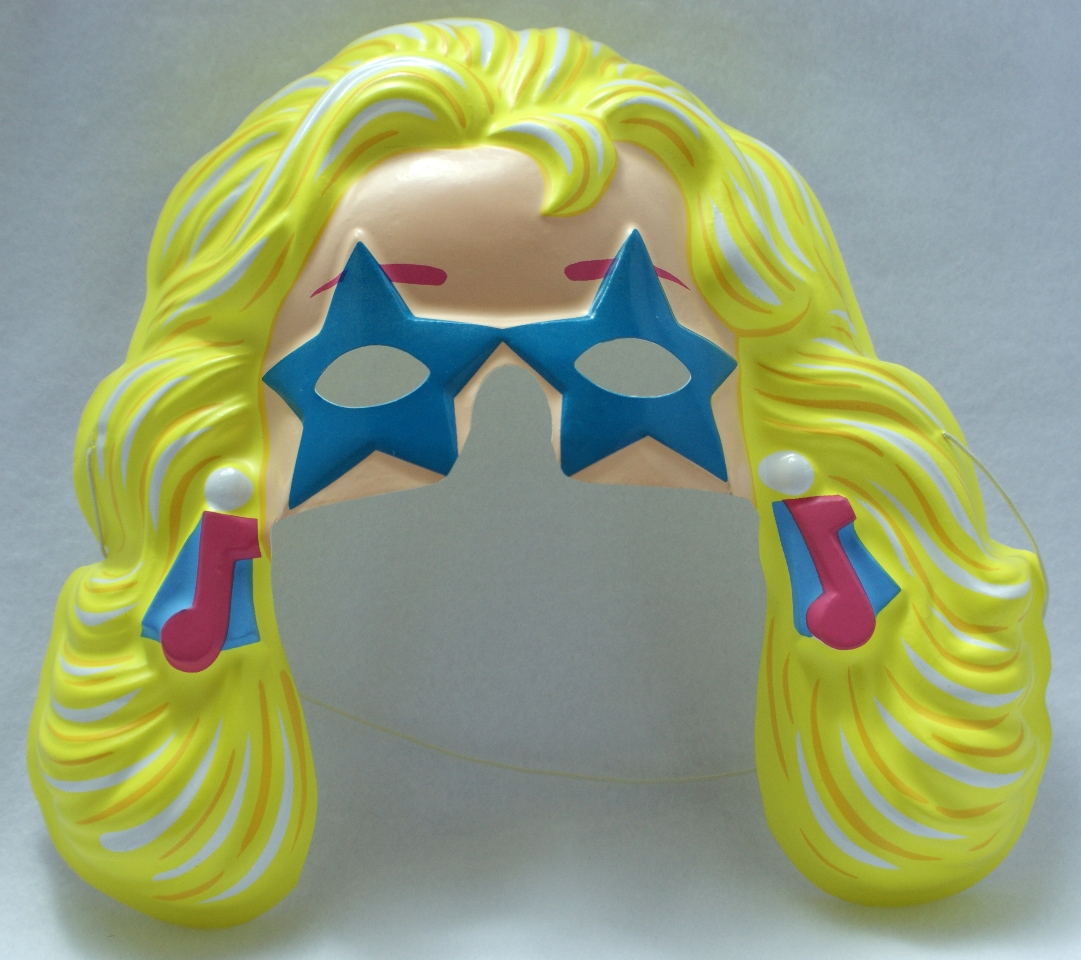 Vintage Rockin Barbie Party Halloween Mask Mattel 1991 PVC Doll Y079