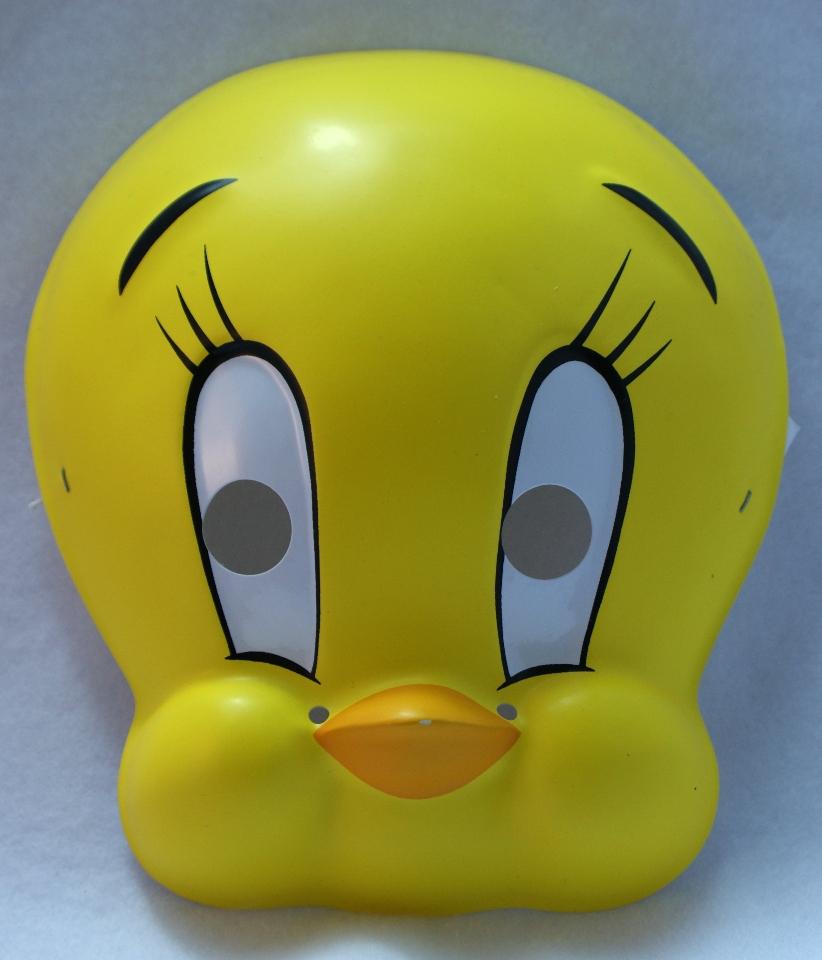 Looney Tunes Tweety Bird Vintage Halloween Mask Rubies 1994 Birthday Party PVC