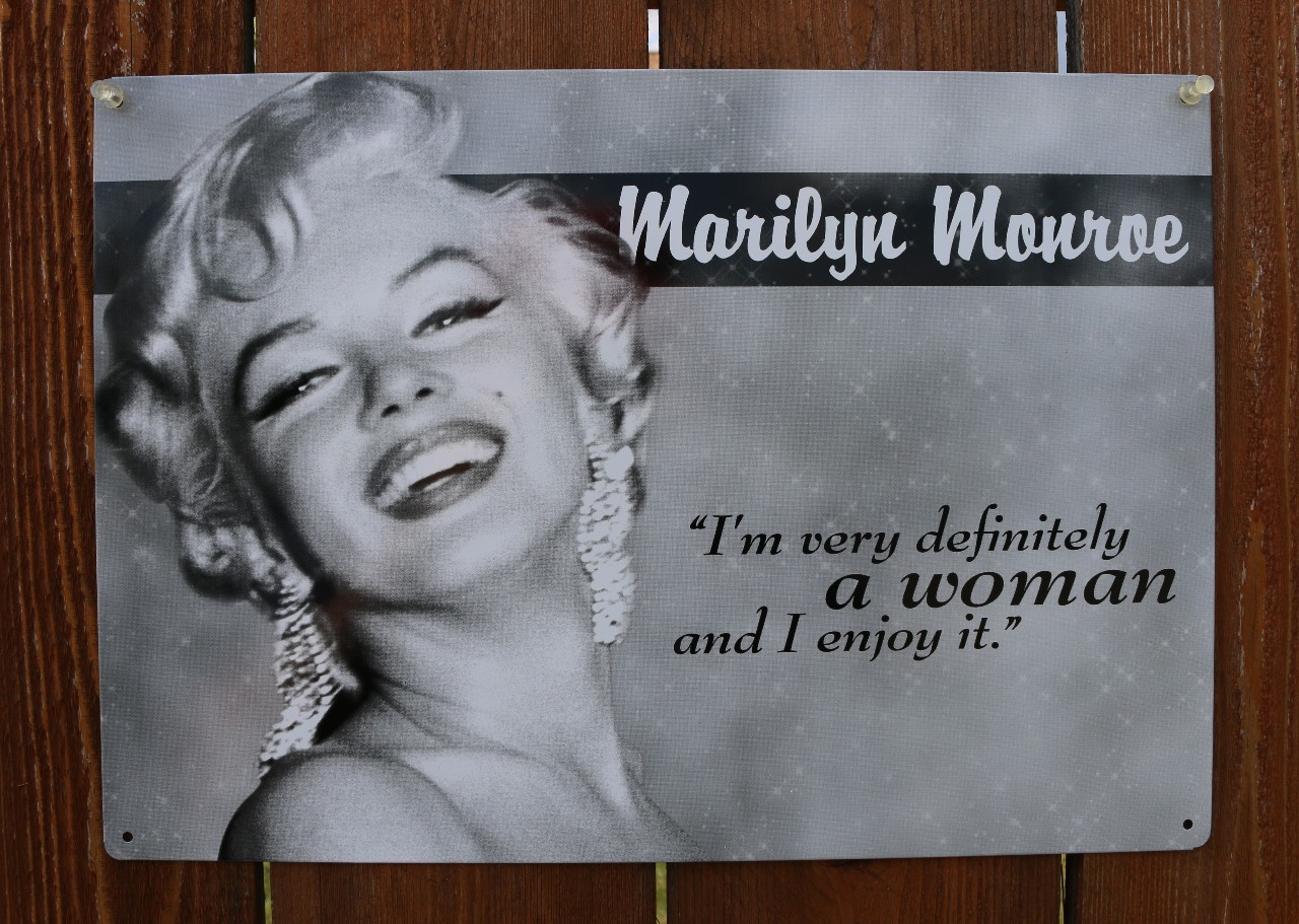 Marilyn Monroe Woman Quote Tin Sign Blond Bombshell Classic