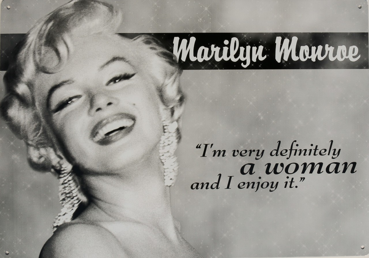 Classic Quotes Marilyn Monroe Woman Quote Tin Sign Blond Bombshell Classic