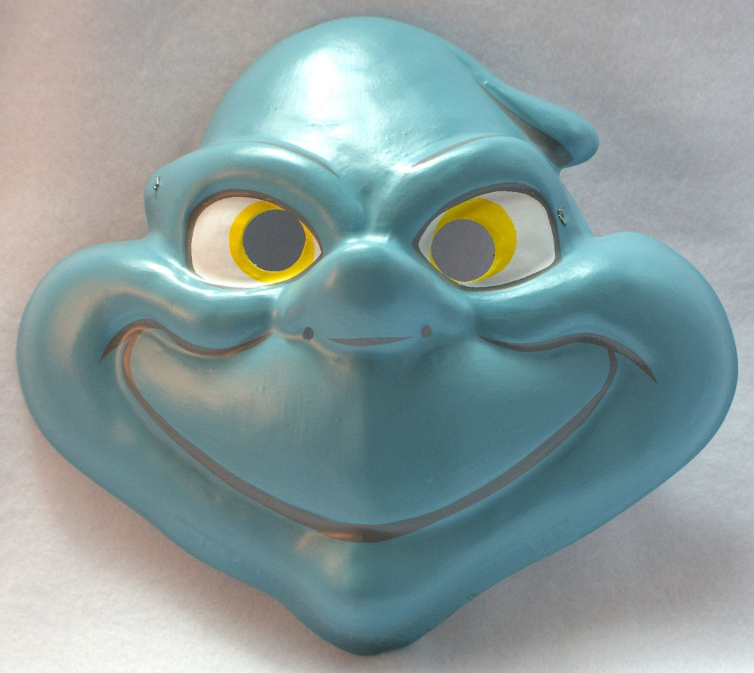 Vintage Stinky Ghost Halloween Mask Casper The Ghost PVC Filled Comic Book Yoo4