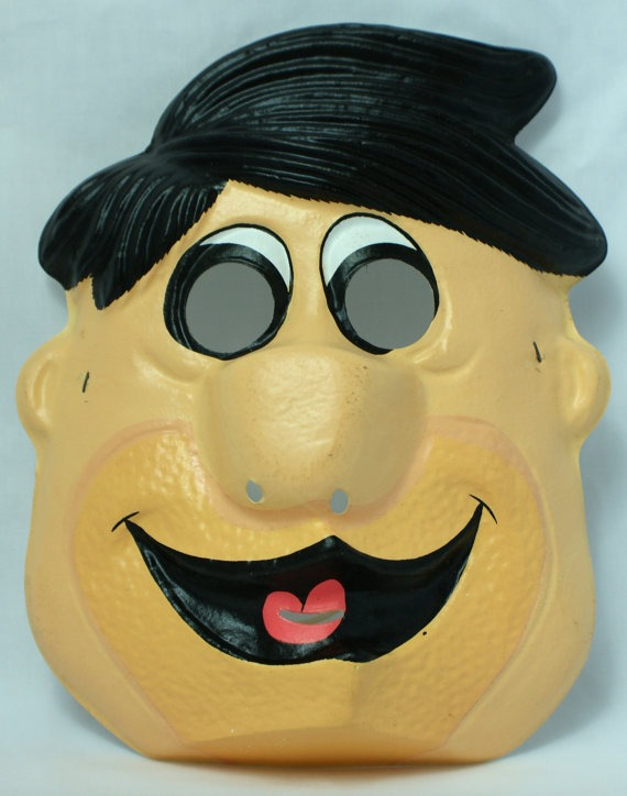 Hanna Barbera Fred Flintstone Vintage Halloween Mask Ben Cooper Y123