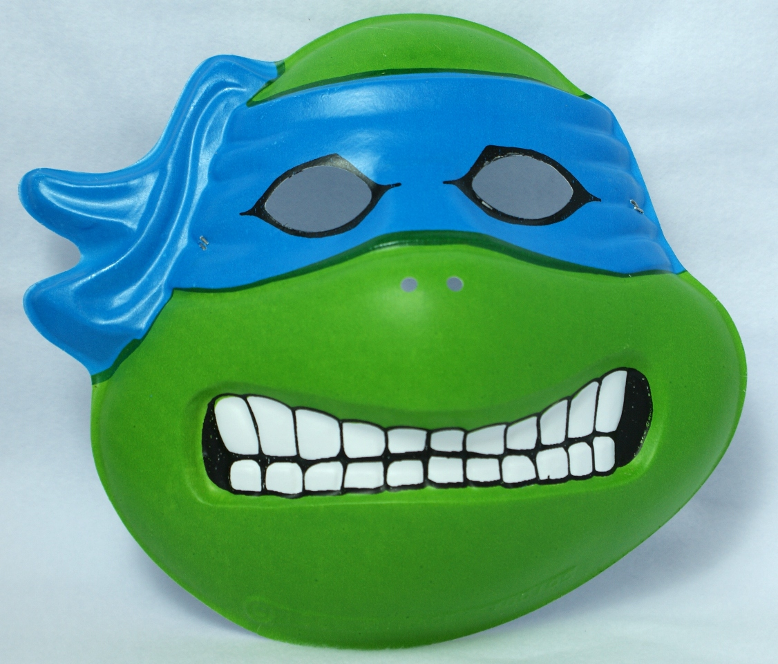 Vintage Leonardo Tmnt Halloween Mask Teenage Mutant Ninja Turtles