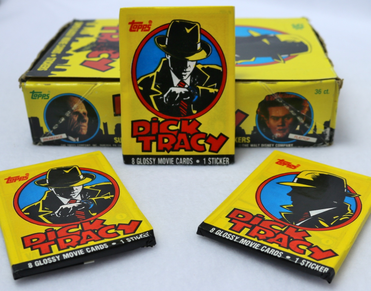 3 Packs of Vintage Topps Dick Tracy Trading Cards 1980's Smart Watch Comics