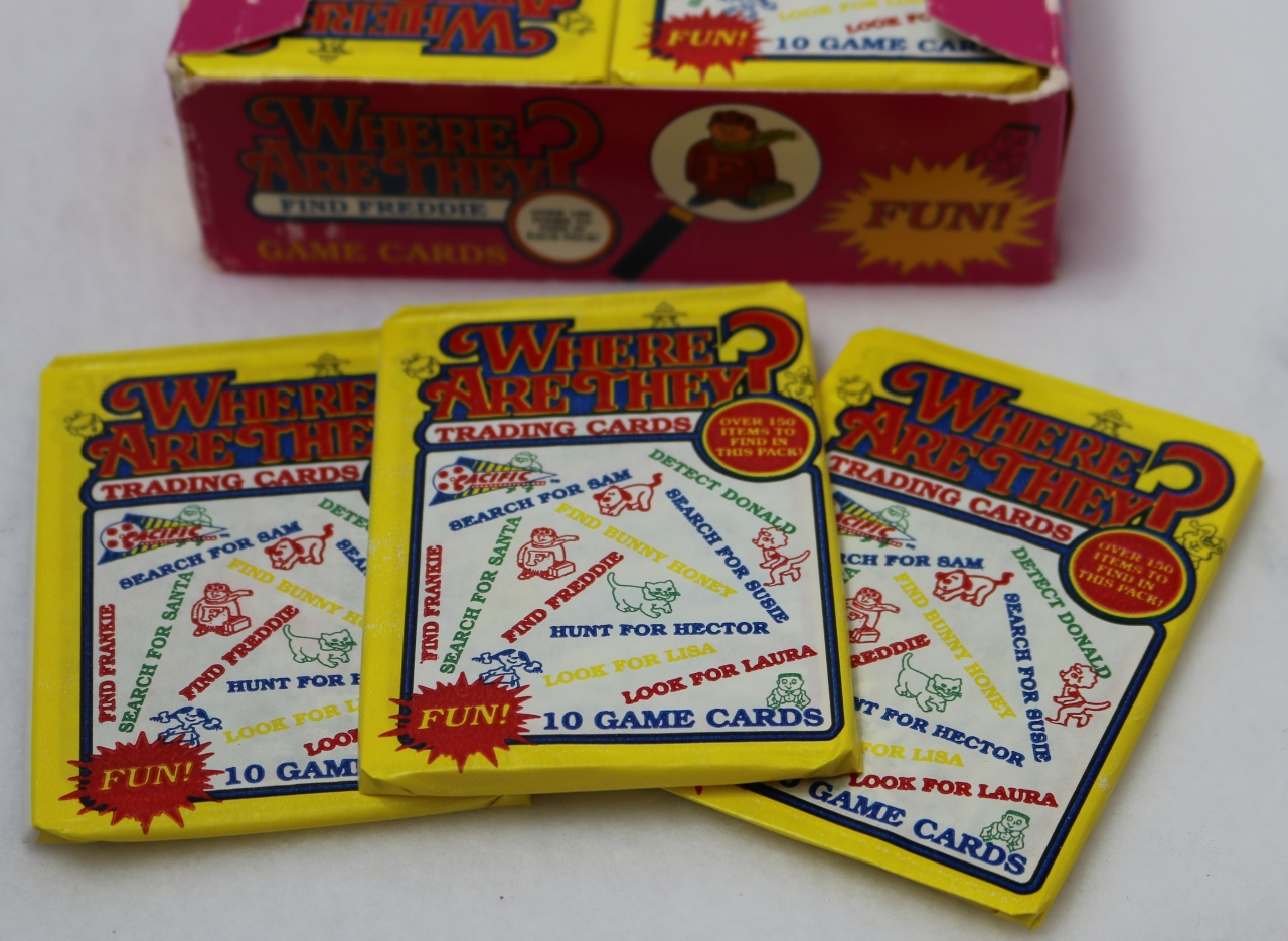 3 Packs of Vintage Where Are They? Game Trading Cards 1991 Wax Packs Non Sports