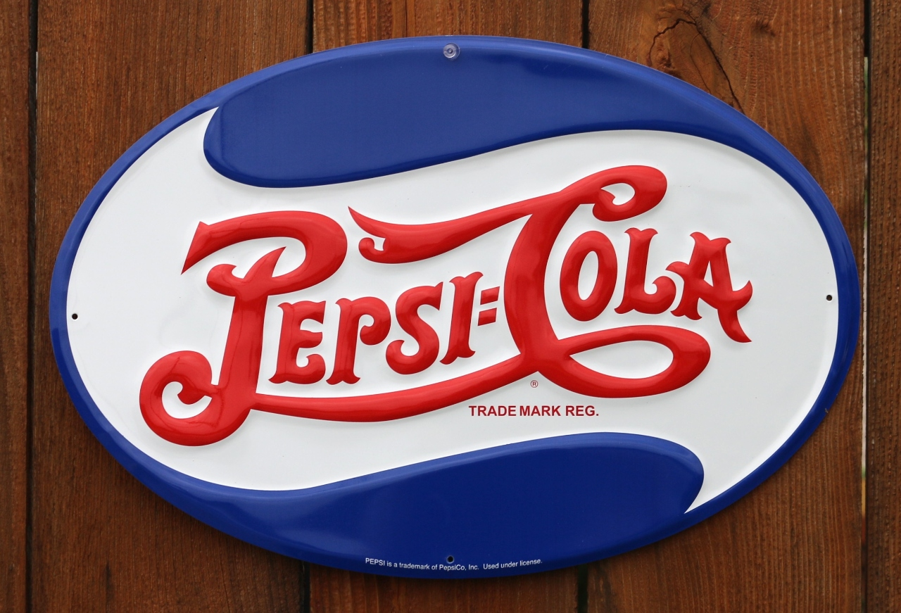 Pepsi Cola Oval Logo Metal Sign Pop Soda Kitchen Restaurant Vintage Style G23