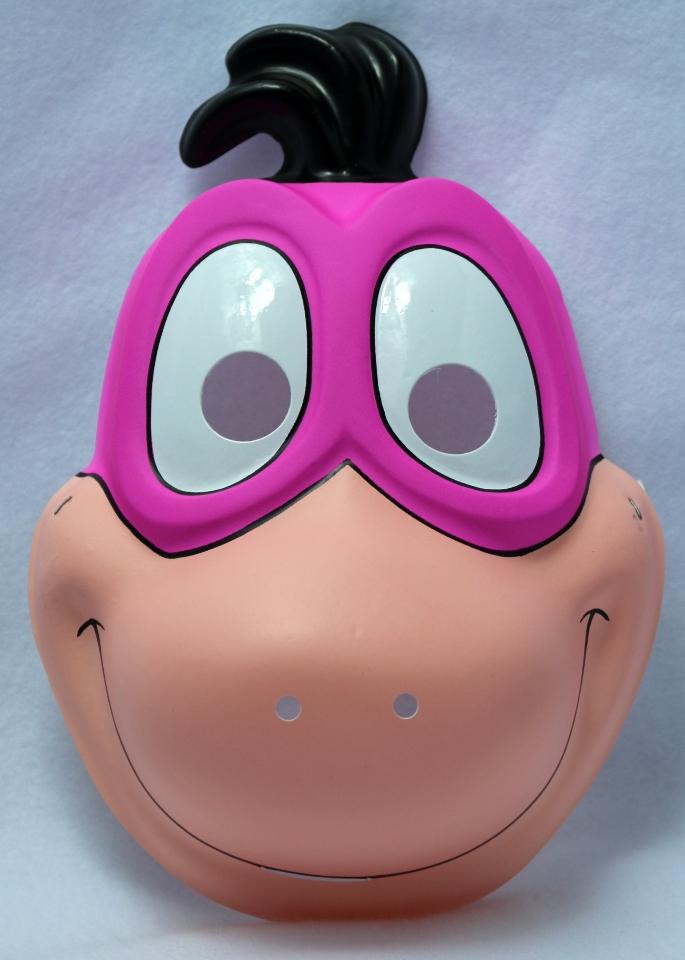 Vintage The Flintstones Dino Halloween Mask Hanna Barbera Child Size Y038