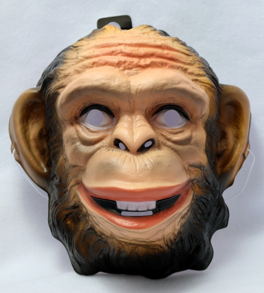 Ape Monkey Halloween Mask Animal Zoo Gorilla Kong Costume Rubies