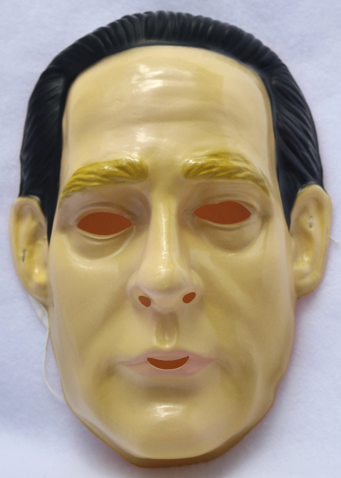Star Trek Data Vintage Halloween Mask Rubies 1992 PVC Enterprise Y112