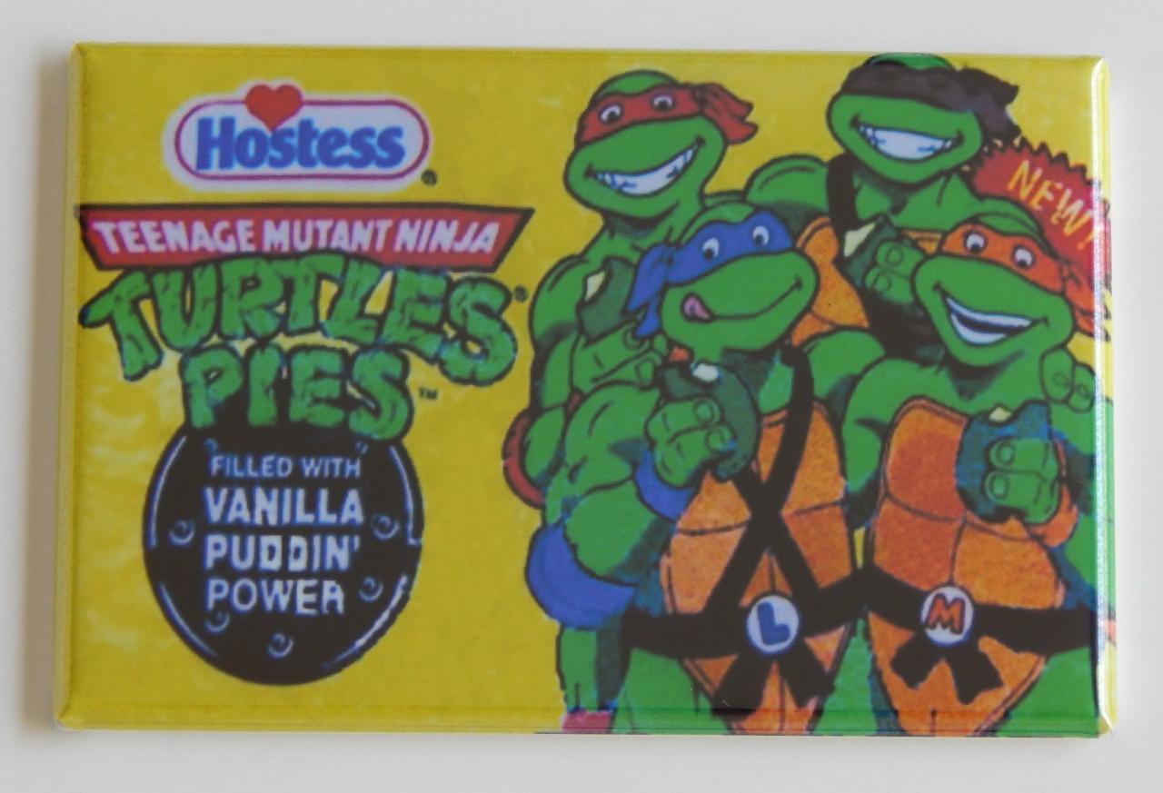 TMNT hostess pie wrapper FRIDGE MAGNET Teenage mutant ninja turtles