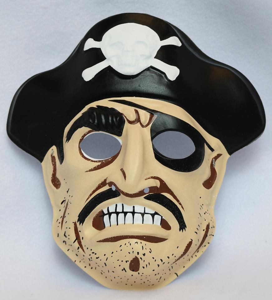 Vintage Collegeville Pirate Halloween Mask Pirates Skull Cross Bones Sailor Y147