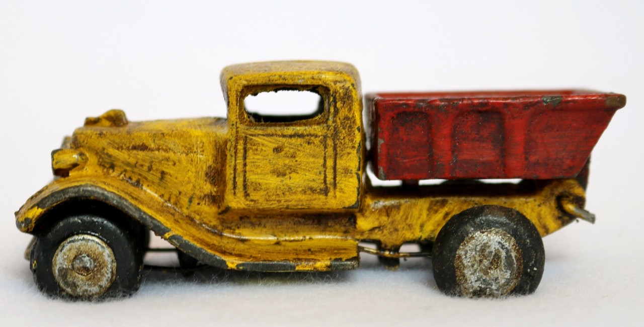 Cast Iron Toy Dump Truck Vintage Style Home Kids Bedroom Office ...