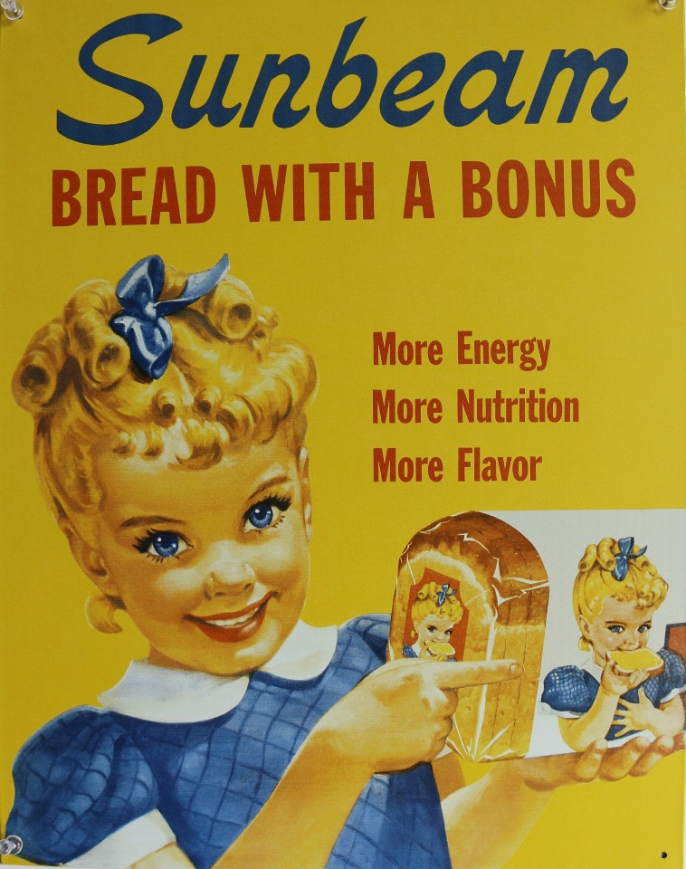 Sunbeam Bread Vintage Styled Advertisement Tin Metal Sign Ad Grocery Kitchen F102