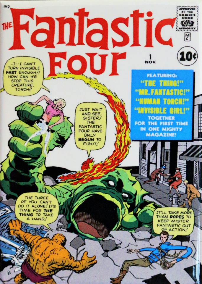 The Fantastic Four Fridge Magnet #1 Issue Marvel Comics Comic Book The Thing Vin