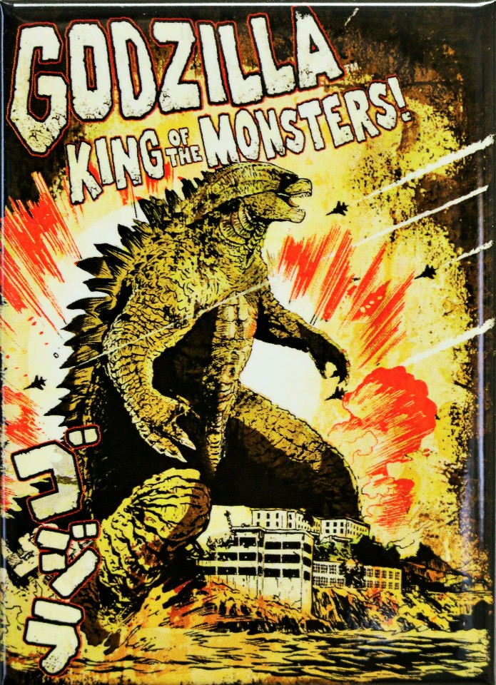 Godzilla King of the Monsters FRIDGE MAGNET Sci Fi Monster Movie Poster ATAM S13