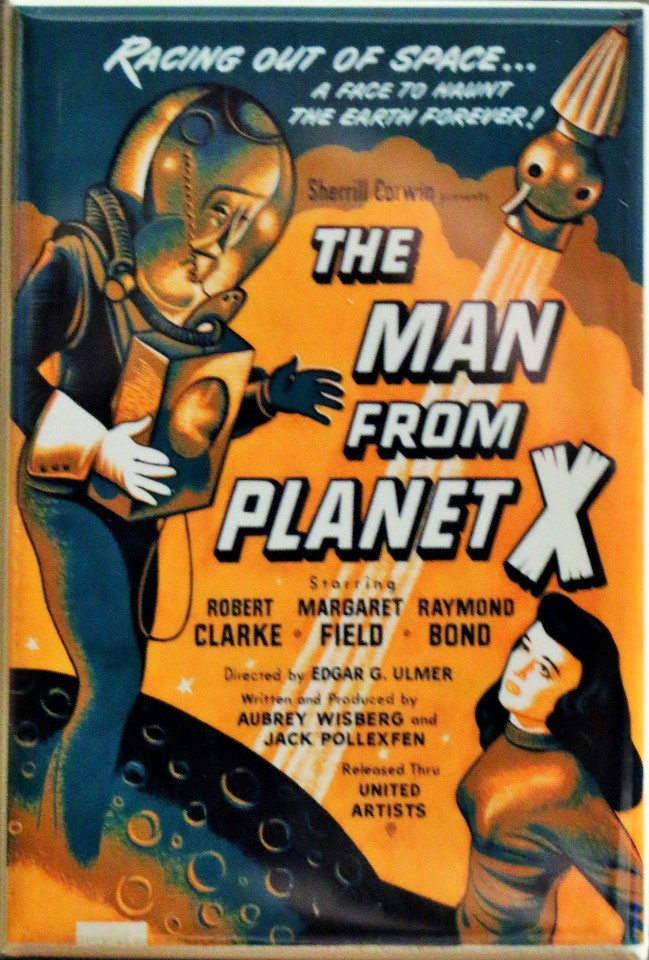 The Man From Planet X Sci Fi Movie Poster FRIDGE MAGNET B Flick Film Classic Movie AD
