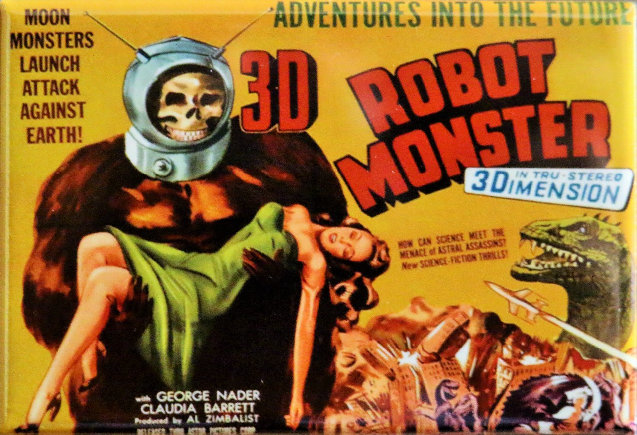 3D Robot Monster Movie Poster FRIDGE MAGNET Cult Classic Sci Fi