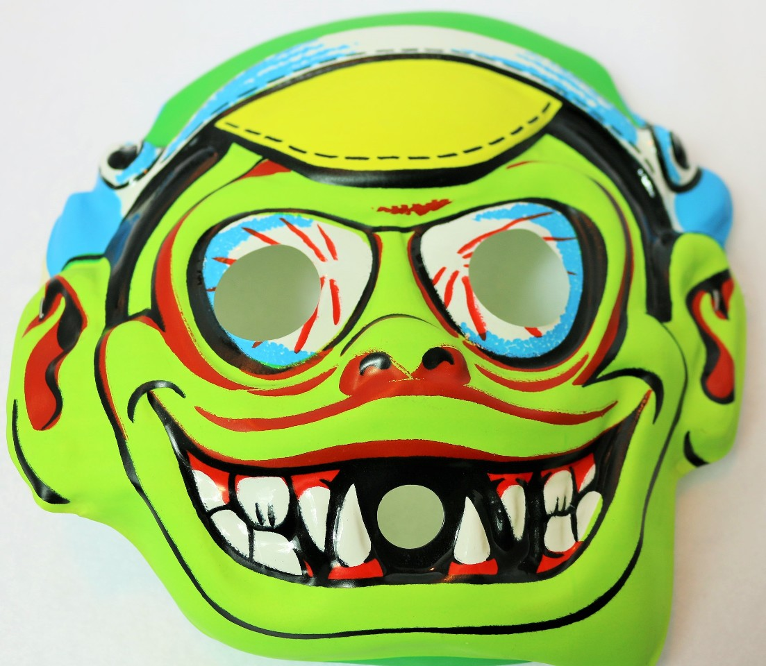 Vintage Rat Fink Racer Halloween Mask 1960's Topstone Rare Demon Childs Size Collectible