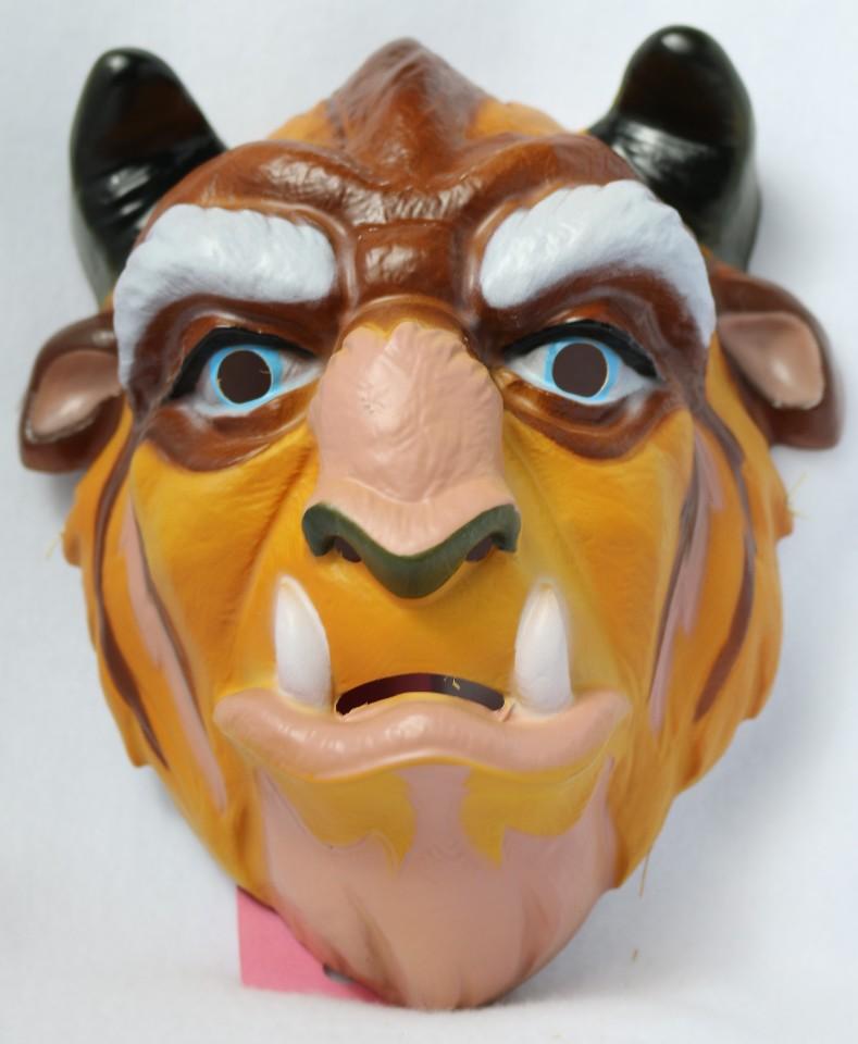 Vintage Walt Disney Beast Mask Beauty and the Beast Halloween CeSar Belle
