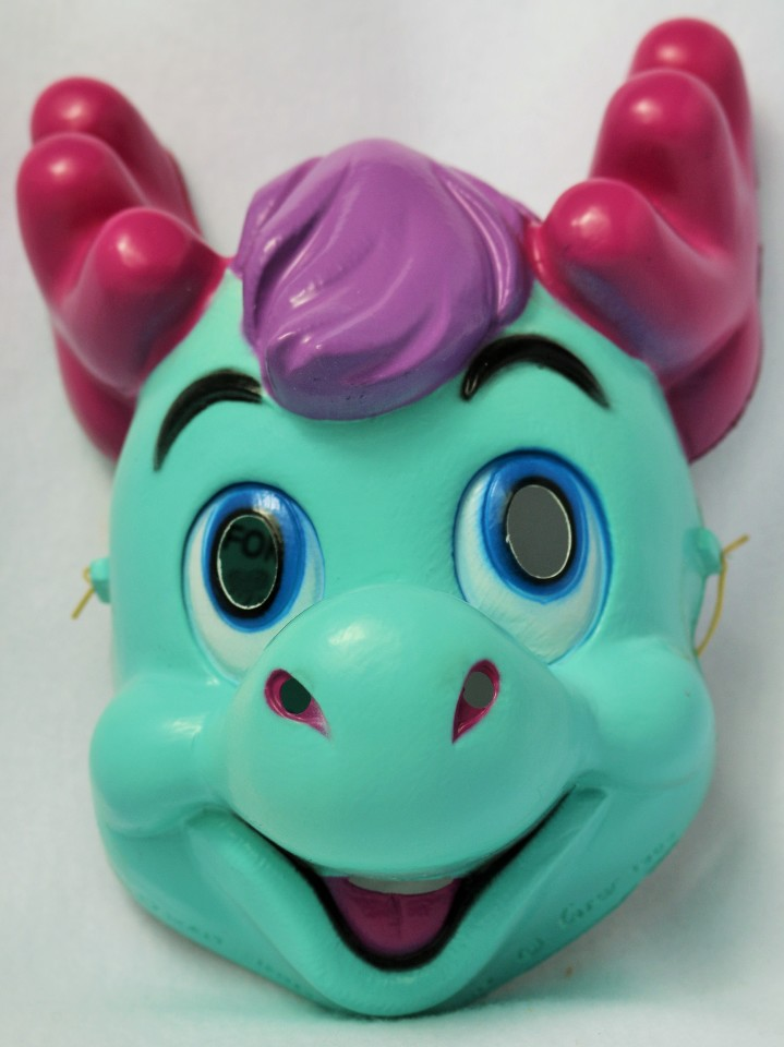 Vintage Walt Disney The Wuzzles Halloween Mask CeSar Costumes Moosel