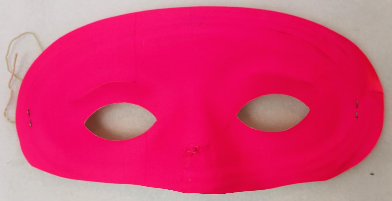 Vintage Neon Pink Domino Mask Halloween Super Hero Costume  Gala