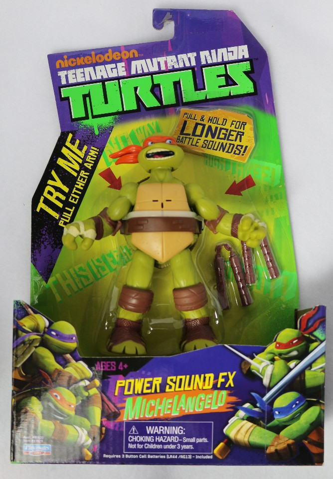 Teenage Mutant Ninja Turtles Power Sound FX Michelangelo Action Figure TMNT Toy