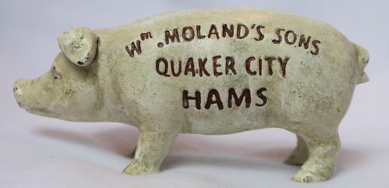 Cast Iron Piggy Bank Vintage Style Pig Hog Farm Animal Barn Country