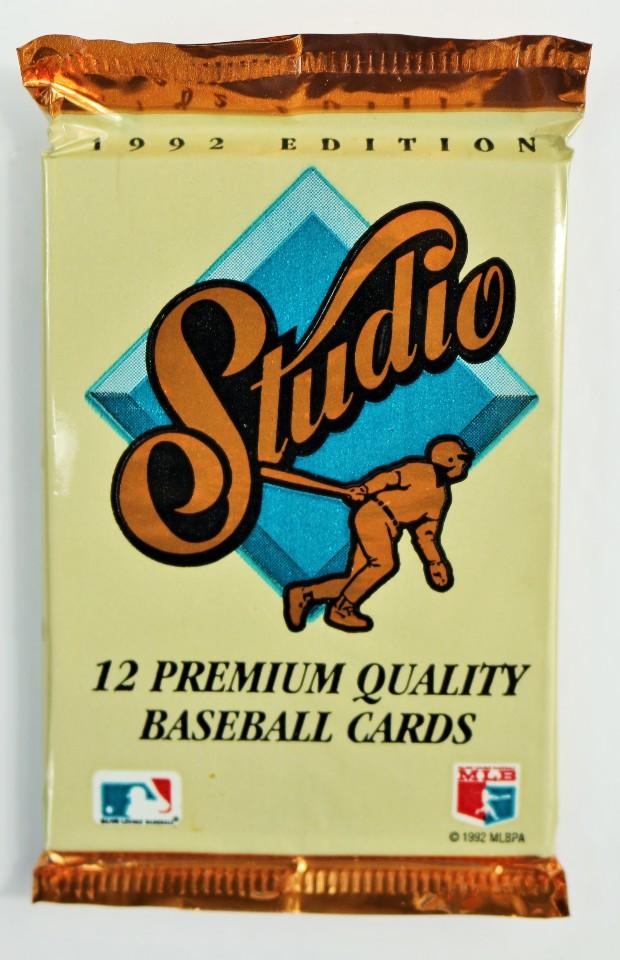 Vintage 1992 Leaf Studio Baseball Trading Cards MLB Foil Pack 92 1 Pack