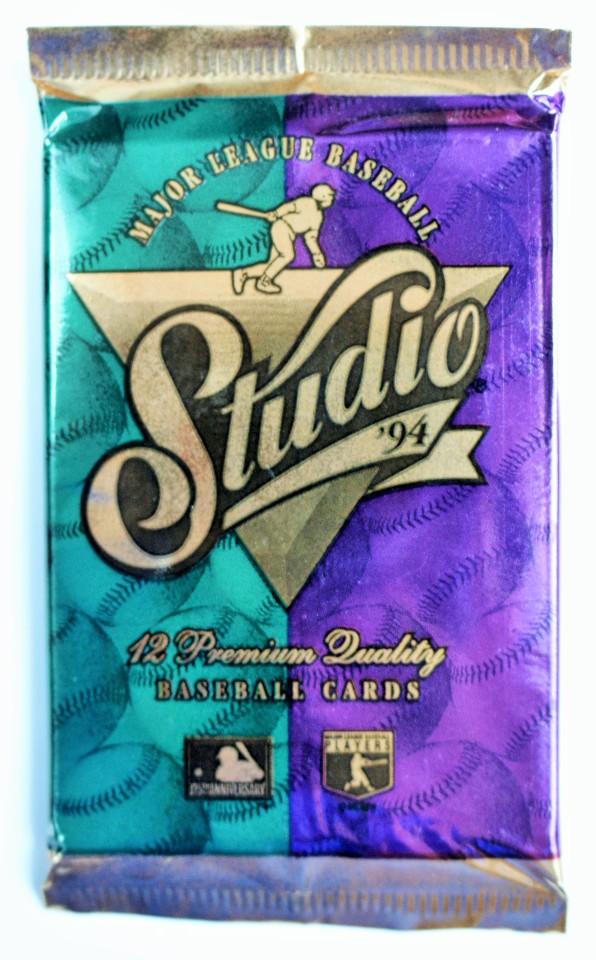 Vintage 1994 Leaf Studio Baseball Trading Cards MLB Foil Pack 94 Donruss