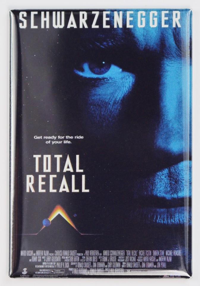 Total Recall Movie Poster FRIDGE MAGNET Arnold Schwarzenegger Sci Fi 90s