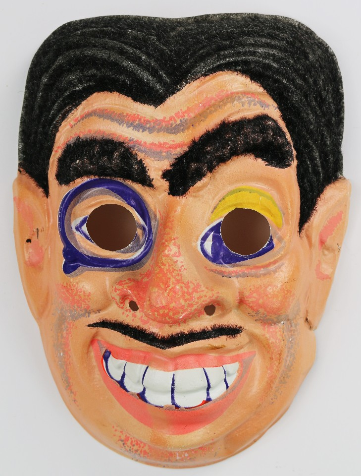 vintage halloween mask mad sciencetist magician gypsy 1970s 60s