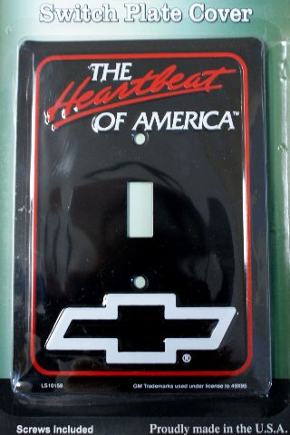 Heartbeat of America Chevrolet Light Switch Plate Cover Chevy Corvette Camaro C2