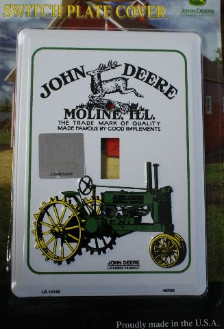 John Deere Light Switch Plate Cover Country Farm Equipment Vintage Style Tractor