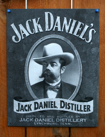 Jack Daniels Distiller Tin Metal Sign BootLegger Bar Beer Alcohol Whiskey D81
