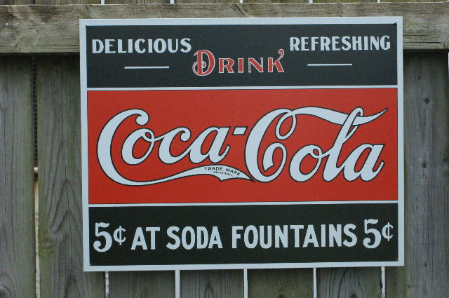 Drink Coca Cola Tin Sign Garage Man Cave Business Soda Classic Advertisement