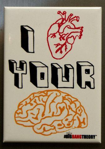 I Love Your Brain The Big Bang Theory Refrigerator FRIDGE MAGNET Sheldon O18