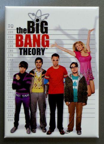 The Big Bang Theory Line Up Refrigerator FRIDGE MAGNET Sheldon Howard Raj O19