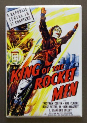 King of the Rocket Men Movie Poster Refrigerator FRIDGE MAGNET Sci Fi i11