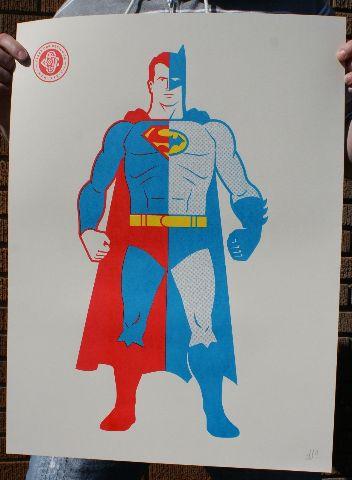 Composite Superman Batman Poster Print By Clark Orr Signed DC Comics Comic Book