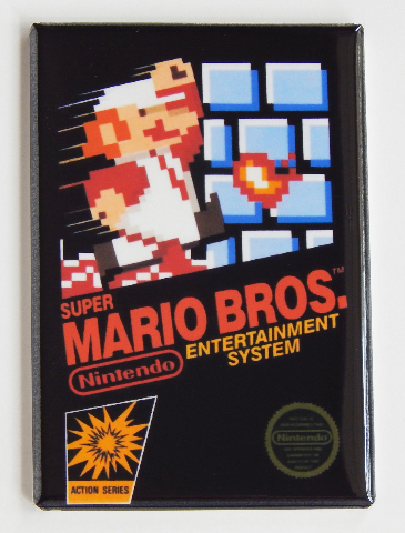 Super Mario Bros refrigerator FRIDGE MAGNET nes nintendo action series game H27