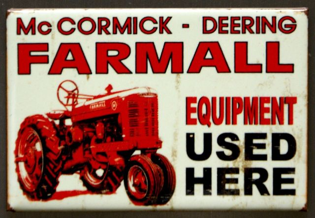 McCormick Deering Farmall Tractor Fridge Magnet Country Home Farming Truck C7